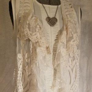 Boutique lace vest